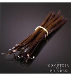 VANILLE MADAGASCAR NOIRE GOUSSE NON FENDUE NNF, TUBE 4 GOUSSES 14-16 CM-COMPTOIR DES POIVRES - Maison Ferrero - Epicerie à