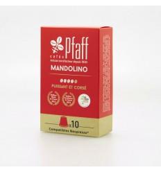 CAFE MANDOLINO 10 CAPSULES -PFAFF - Maison Ferrero - Epicerie à Ajaccio