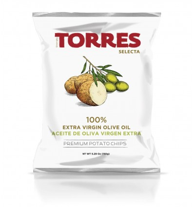 CHIPS À L'HUILE D'OLIVE VIERGE EXTRA - PATATAS TORRES
