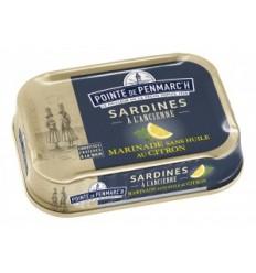 SARDINES MARINADE AU CITRON SANS HUILE 115GR LA POINTE DE PENMARCH - Maison Ferrero - Epicerie à Ajaccio
