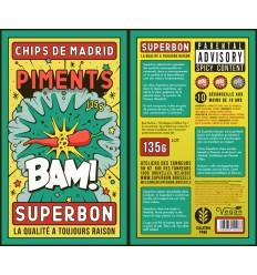 CHIPS SUPERBON PIMENT 100GR -SUPERSEC