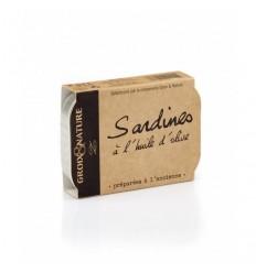 SARDINES A L'HUILE D'OLIVE 115GR - GROIX ET NATURE - Maison Ferrero - Epicerie à Ajaccio