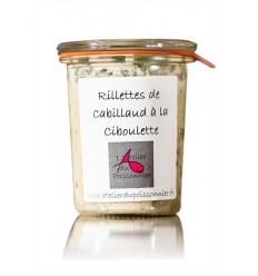 RILLETTES CABILLAUD A LA CIBOULETTE- ATELIER DU POISSONNIER