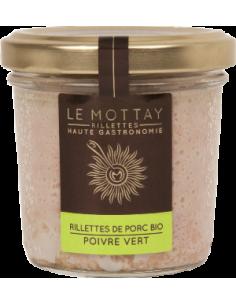 RILLETTE PUR PORC BIO AU POIVRE VERT 90GR - LE MOTTAY GOURMAND - Maison Ferrero - Epicerie à Ajaccio