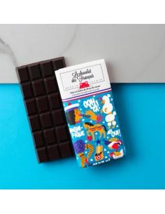 TABLETTE BIO 71% NOIR ECLATS DE FEVE DE CACAO LE PANACHE 80GR- LE CHOCOLAT DES FRANCAIS - Maison Ferrero - Epicerie à Ajaccio