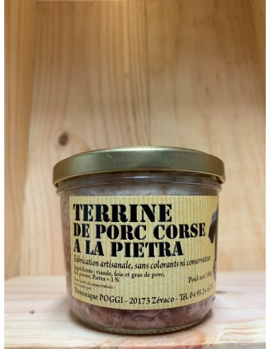 TERRINE DE PORC A LA PIETRA 180G-CHARCUTERIE POGGI - Maison Ferrero - Epicerie à Ajaccio