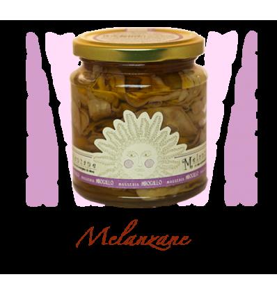 AUBERGINES TRANCHES À L'HUILE-MIROGALLO - Maison Ferrero - Epicerie à Ajaccio