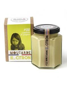MOUTARDE LOUISON GROGNON AIL CITRON 180GR - - Maison Ferrero - Epicerie à Ajaccio