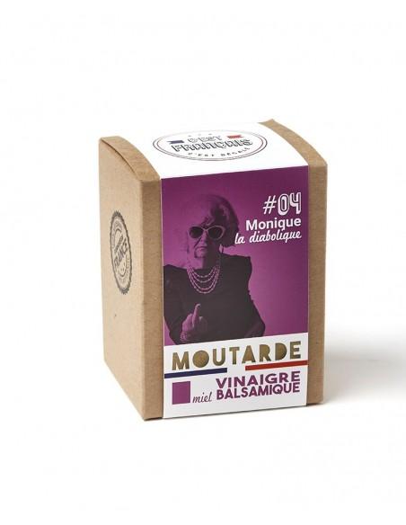 MOUTARDE MONIQUE LA DIABOLIQUE MIEL BALSAMIQUE 180GR - - Maison Ferrero - Epicerie à Ajaccio