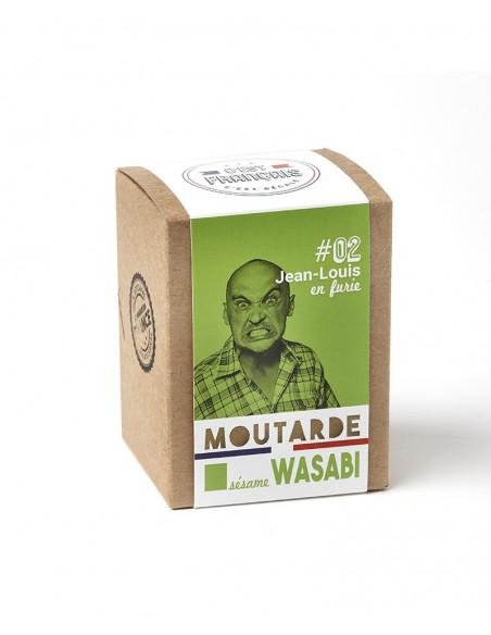 MOUTARDE JEAN LOUIS EN FURIE SESAME WASABI 180GR - - Maison Ferrero - Epicerie à Ajaccio