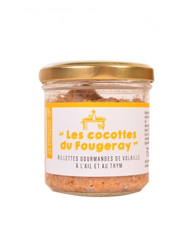 RILLETTE DE VOLAILLE AIL ET THYM 120GR - LE MOTTAY GOURMAND - Maison Ferrero - Epicerie à Ajaccio