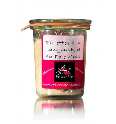 RILLETTES DE LANGOUSTE AU FOIE GRAS 90gr- ATELIER DU POISSONNIER - Maison Ferrero - Epicerie à Ajaccio