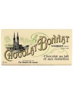 TABLETTE LAIT AUX NOISETTES -BONNAT - Maison Ferrero - Epicerie à Ajaccio