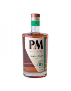 WHISKY PM SINGLE MALT TOURBE 70CL 40°-MAVELA - Maison Ferrero - Epicerie à Ajaccio