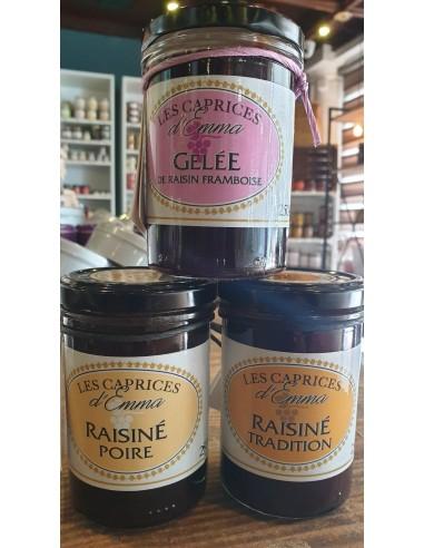 GELEE DE RAISIN FRAMBOISE CORSE 250GR- LES CAPRICES D'EMMA - Maison Ferrero - Epicerie à Ajaccio