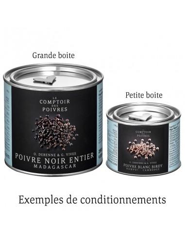 POIVRE NOIR ENTIER TGSEB KAPPAD BLACK GOLD 70G-COMPTOIR DES POIVRES - Maison Ferrero - Epicerie à Ajaccio