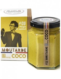 MOUTARDE HUGO LE COSTAUD CURRY COCO 180GR - - Maison Ferrero - Epicerie à Ajaccio