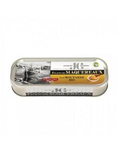 FILETS DE MAQUEREAUX SAUCE MOUTARDE BIO 176GR - JGONIDEC - Maison Ferrero - Epicerie à Ajaccio