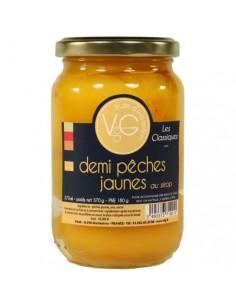 OREILLONS DE PECHES JAUNES AU SIROP 37CL- LES VERGERS DE CASCOGNE - Maison Ferrero - Epicerie à Ajaccio