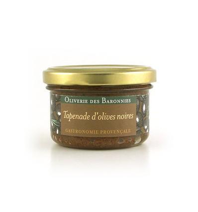 TAPENADE OLIVES NOIRES DE MEDITERRANEE 90gr-OLIVERIE DES BARONNIES - Maison Ferrero - Epicerie à Ajaccio
