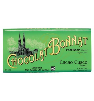 TABLETTE CACAO CUSCO GRAND CRU D'EXCEPTION-BONNAT - Maison Ferrero - Epicerie à Ajaccio
