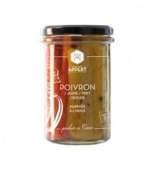 POIVRONS MARINES A L'HUILE 314ml-MR APPERT - Maison Ferrero - Epicerie à Ajaccio