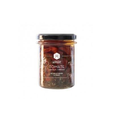 TOMATE / BASILIC /ORIGAN séchée & marinée à l'huile 212ml-MR APPERT - Maison Ferrero - Epicerie à Ajaccio