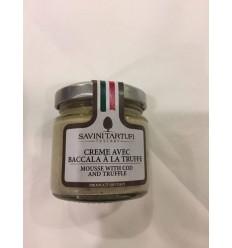 CREME AVEC BACCALA A LA TRUFFE- SAVINI TARTUFI - Maison Ferrero - Epicerie à Ajaccio